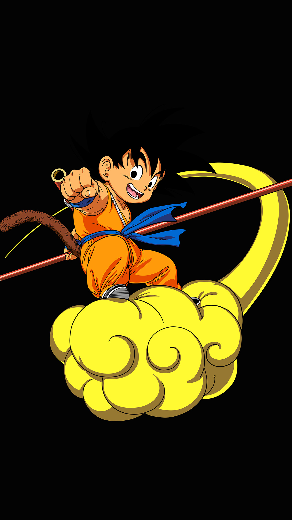Iphone7papers Ap05 Dragonball Goku Cloud Fly Anime Art Illust