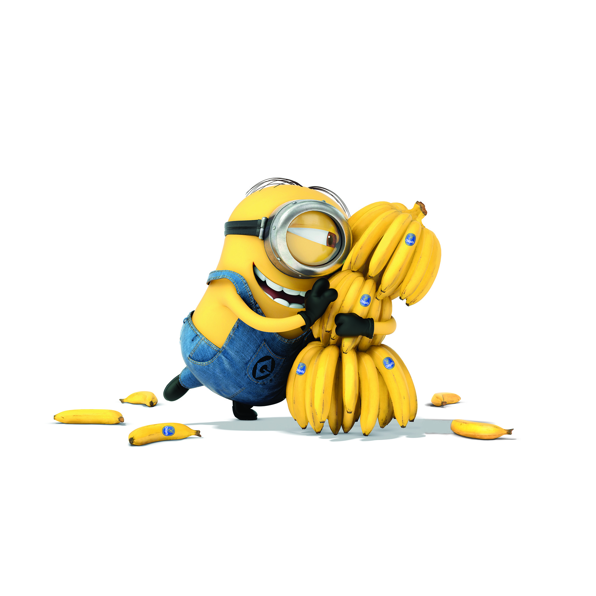 I Love Papers Ap08 Minions Art Illust Film Cute Banana Yellow