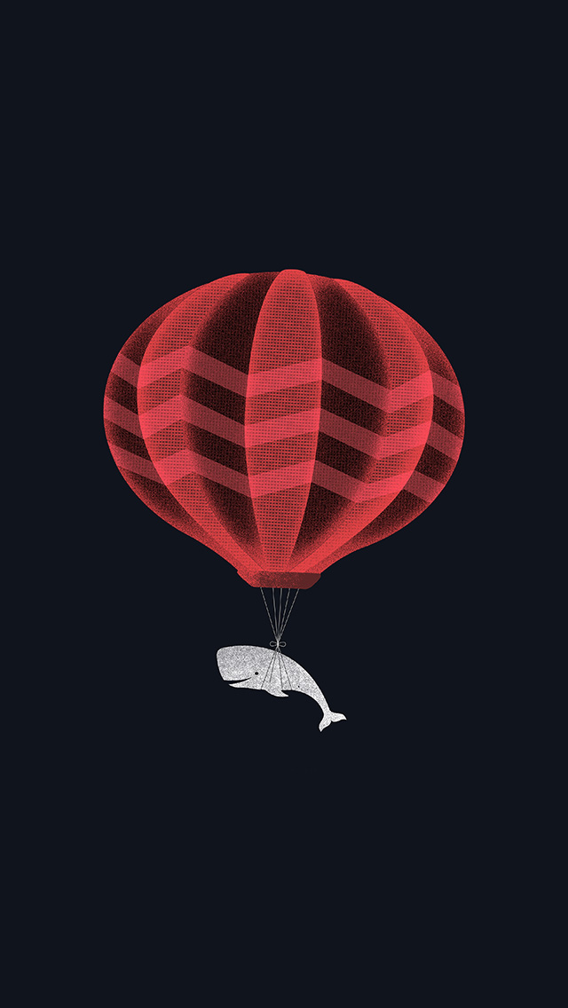 freeios8.com-iphone-4-5-6-plus-ipad-ios8-ap10-cute-illustration-whale-balloon-art-dark