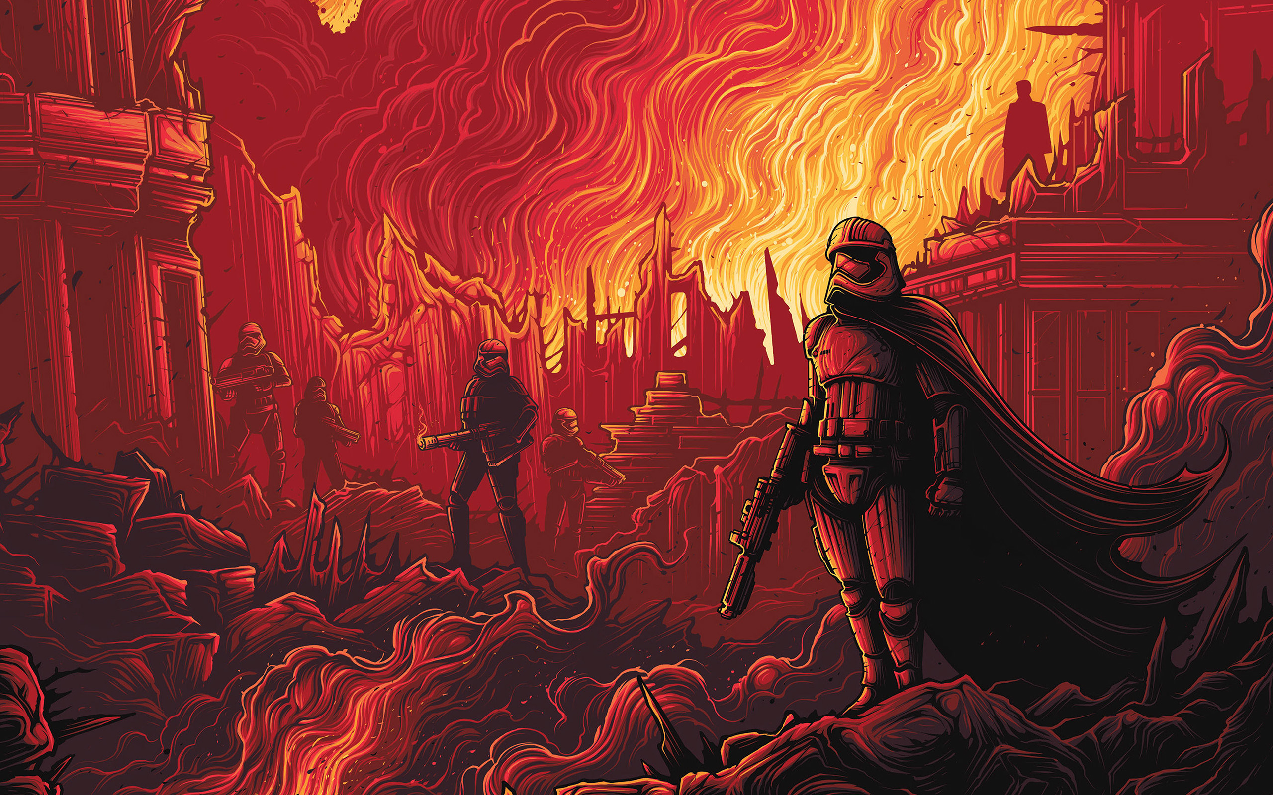 papers.co ap11 captain phasma starwars red film art 23 wallpaper