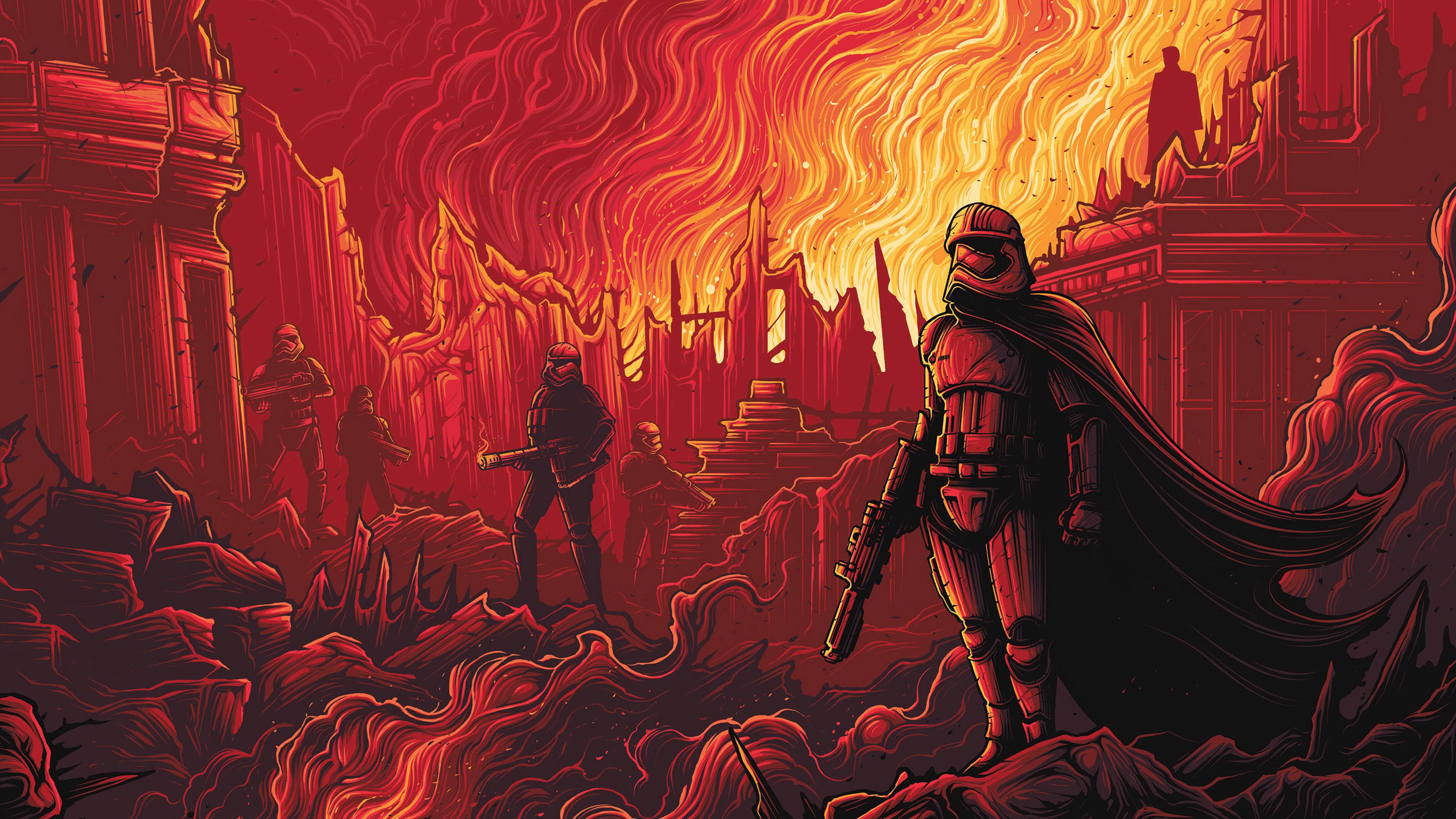Ap11 Captain Phasma Starwars Red Film Art Wallpaper