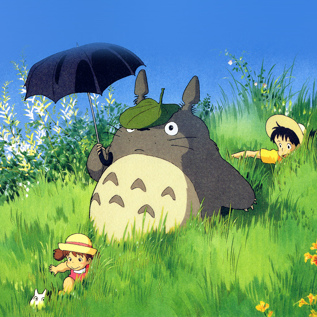Cute Pattern Iphone Wallpaper: Ap13-totoro-art-cute-anime-illustration-wallpaper