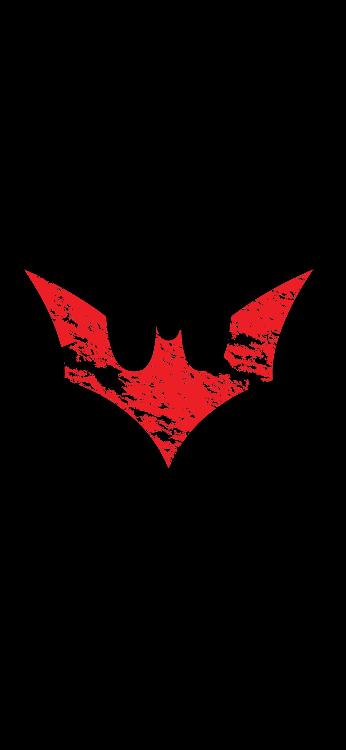 Iphone11papers Com Iphone11 Wallpaper Ap16 Batman Logo Red Dark Hero Art