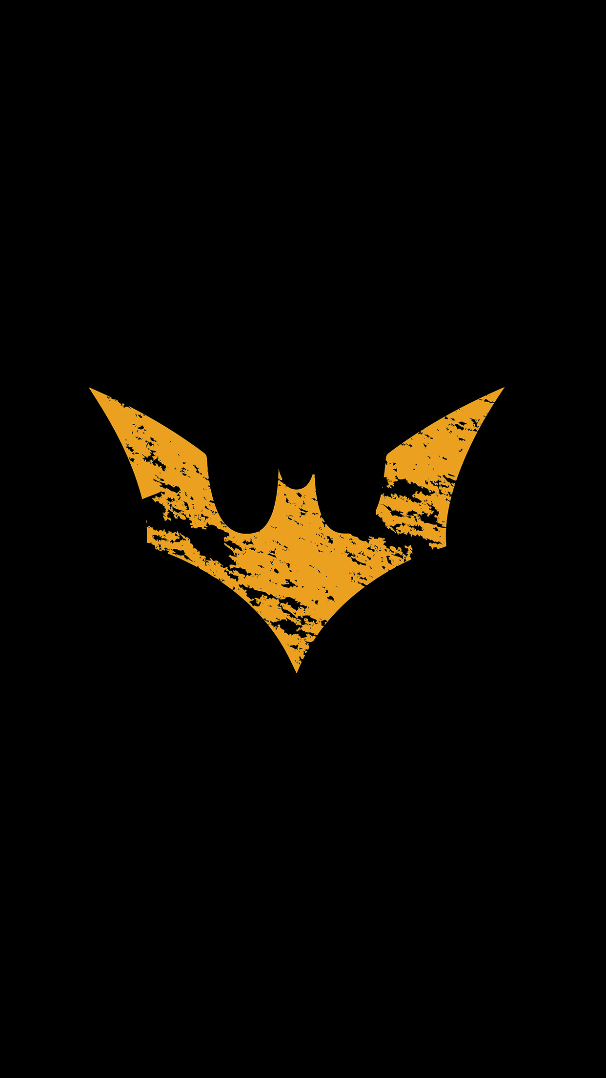 Iphonepaperscom Iphone Wallpaper Ap17 Batman Logo Yellow Dark