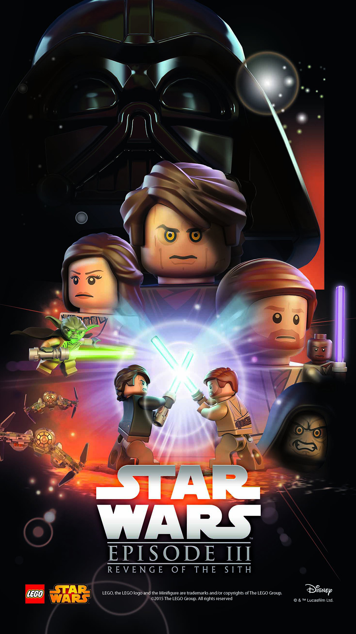 Iphone6papers Co Iphone 6 Wallpaper Ap22 Starwars Lego Episode 3 Revenge Of The Sith Art Film