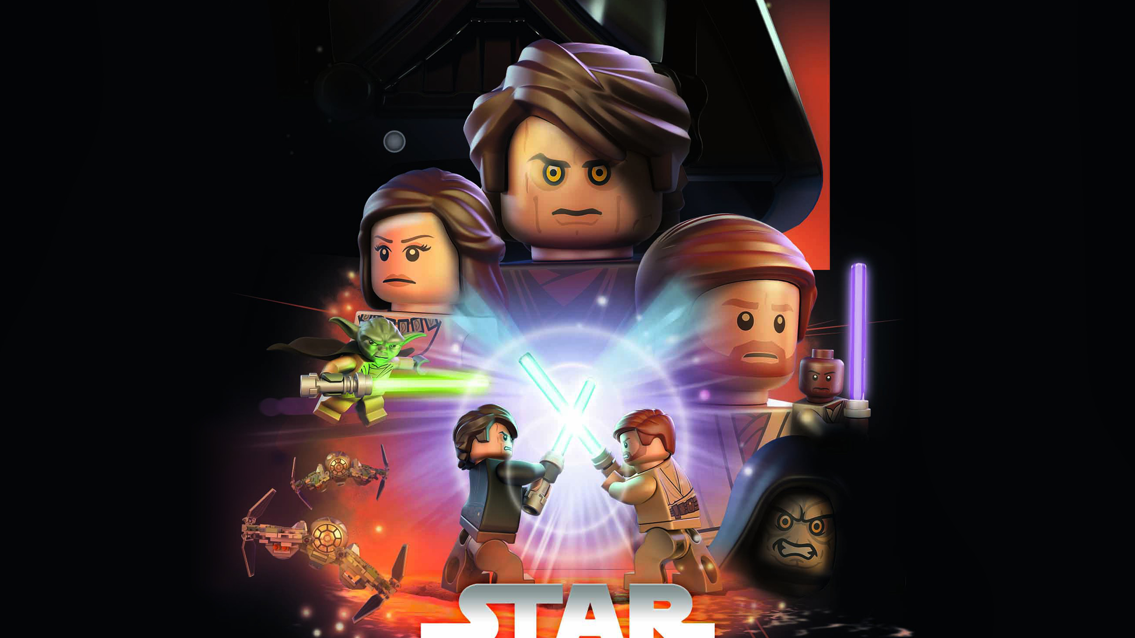 Ap22 Starwars Lego Episode 3 Revenge Of The Sith Art Film Wallpaper