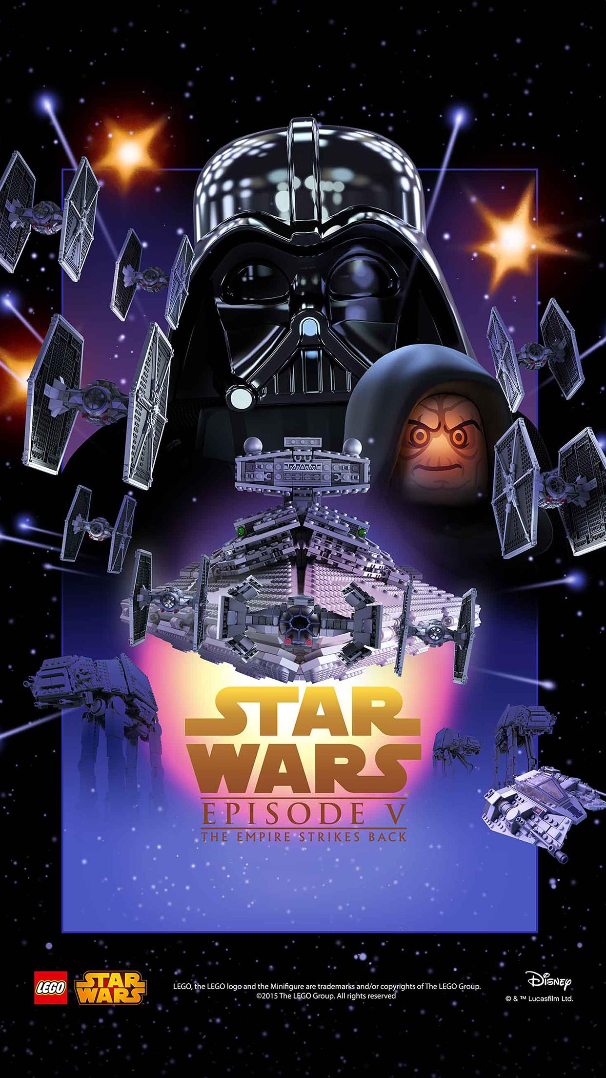 Ap23 Starwars Lego Episode 5 Empire Strikes Back Film Art Wallpaper