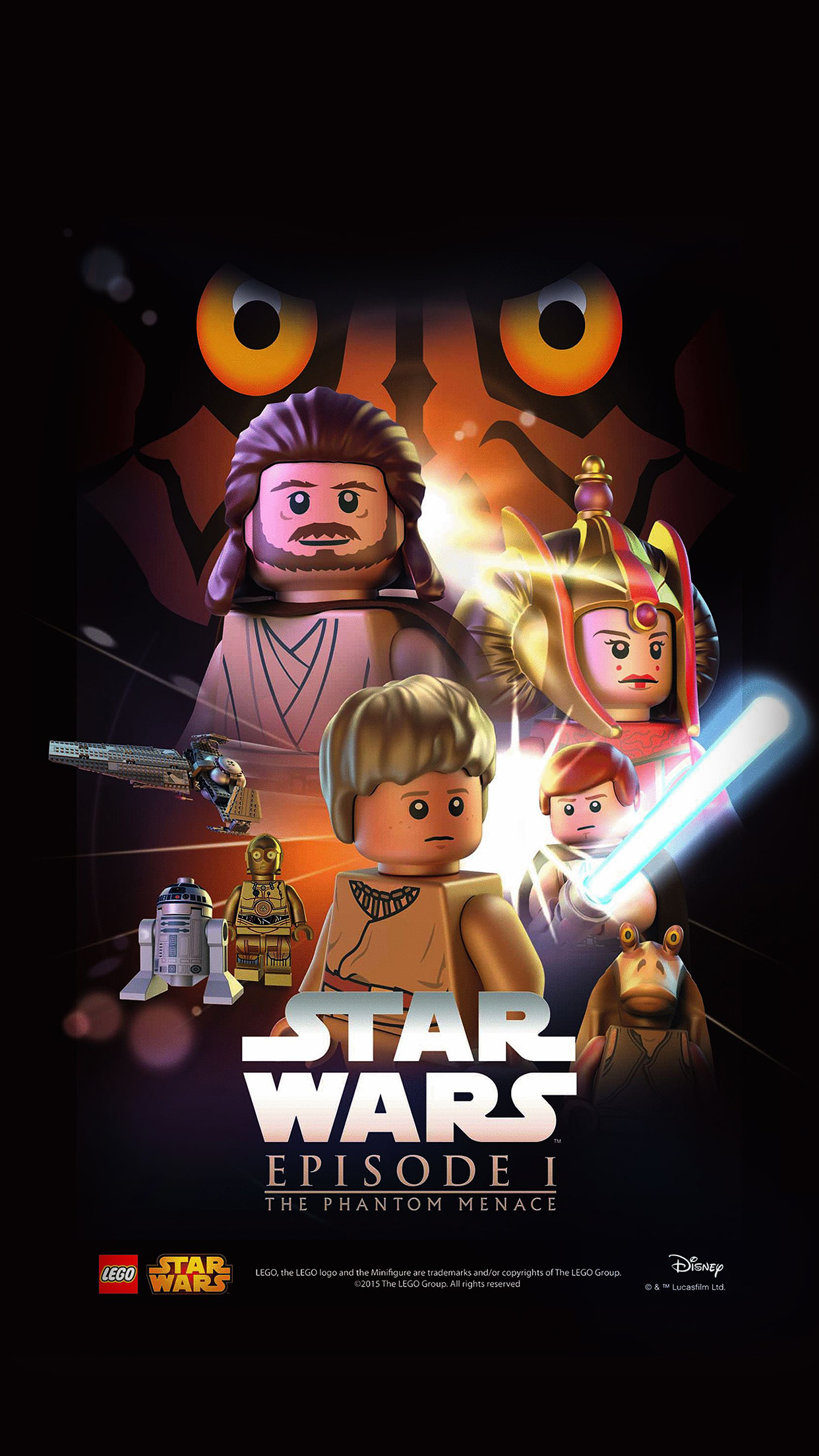 Iphonepapers Com Iphone 8 Wallpaper Ap25 Starwars Lego Episode 1
