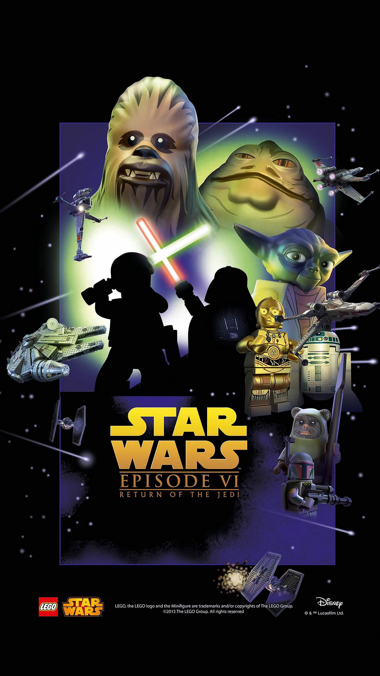 Papers Co Iphone Wallpaper Ap26 Starwars Lego Episode 6 Return Of Jedi Art Film