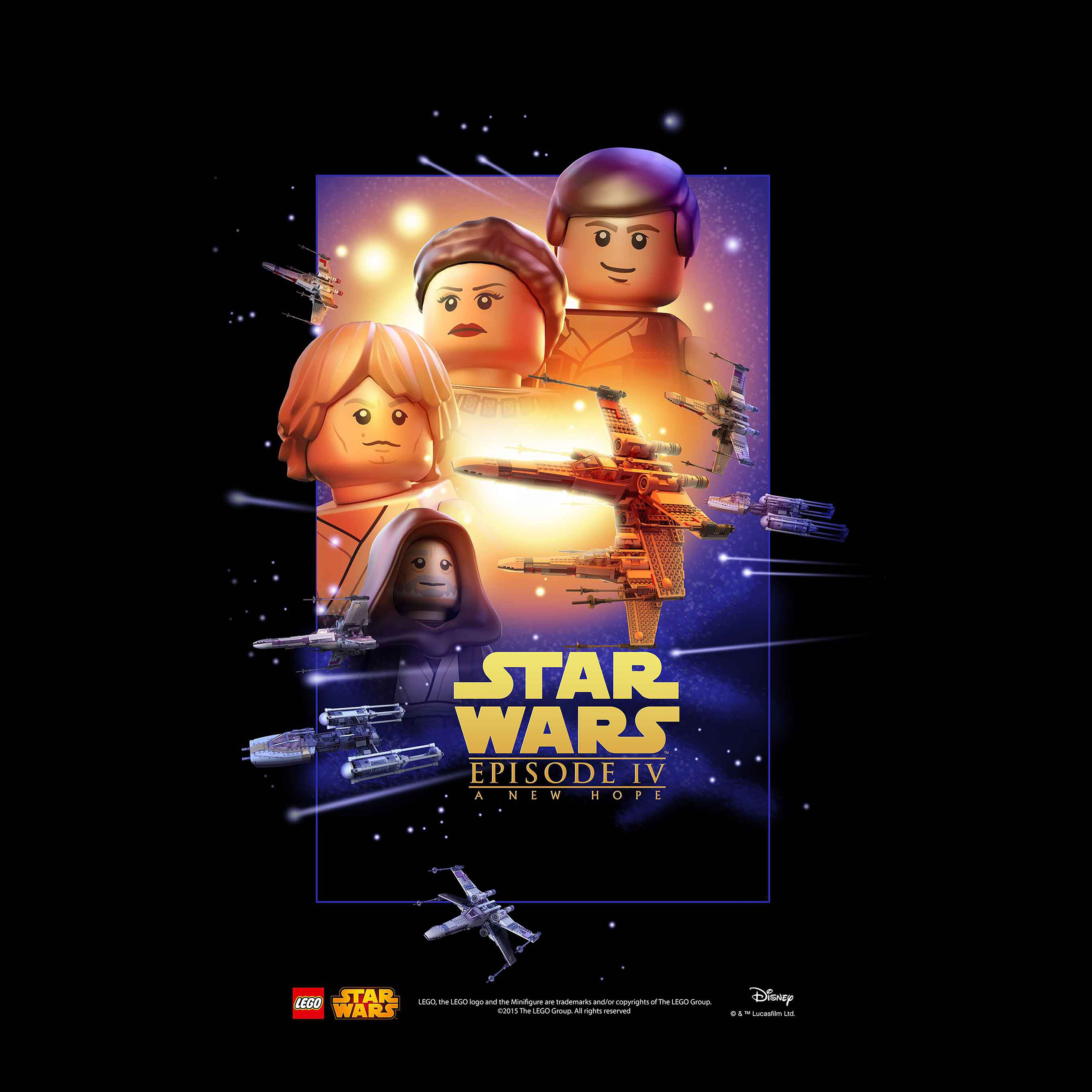 Ap27 Starwars Lego Episode 4 New Hope Art Film Wallpaper