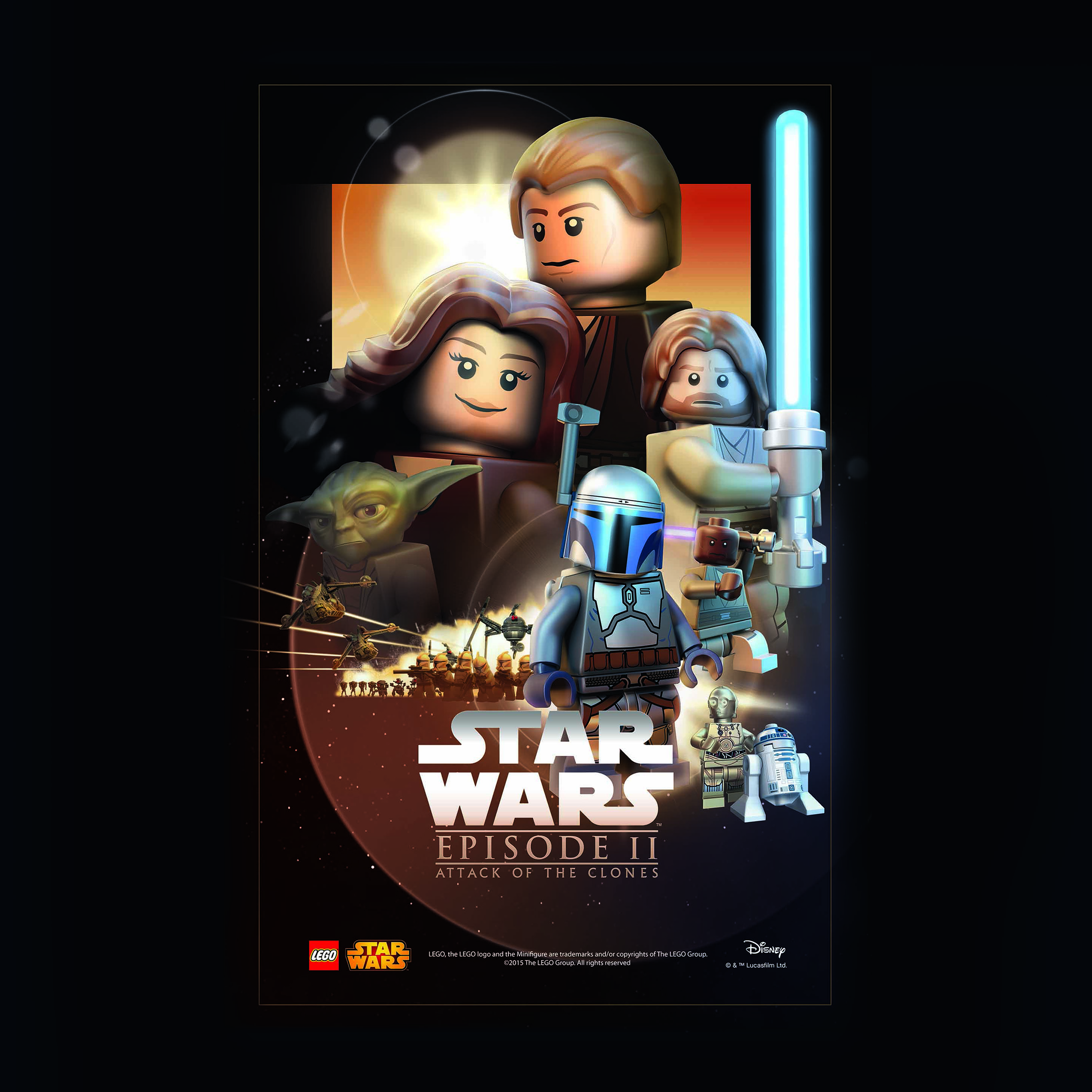 Ap28 Starwars Lego Episode 2 Attack Of Clones Art Film Wallpaper