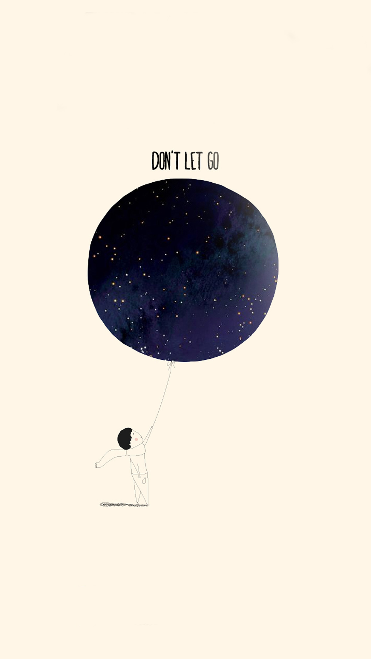 Ap32 dont let go art cute illustration wallpaper for Going minimalist