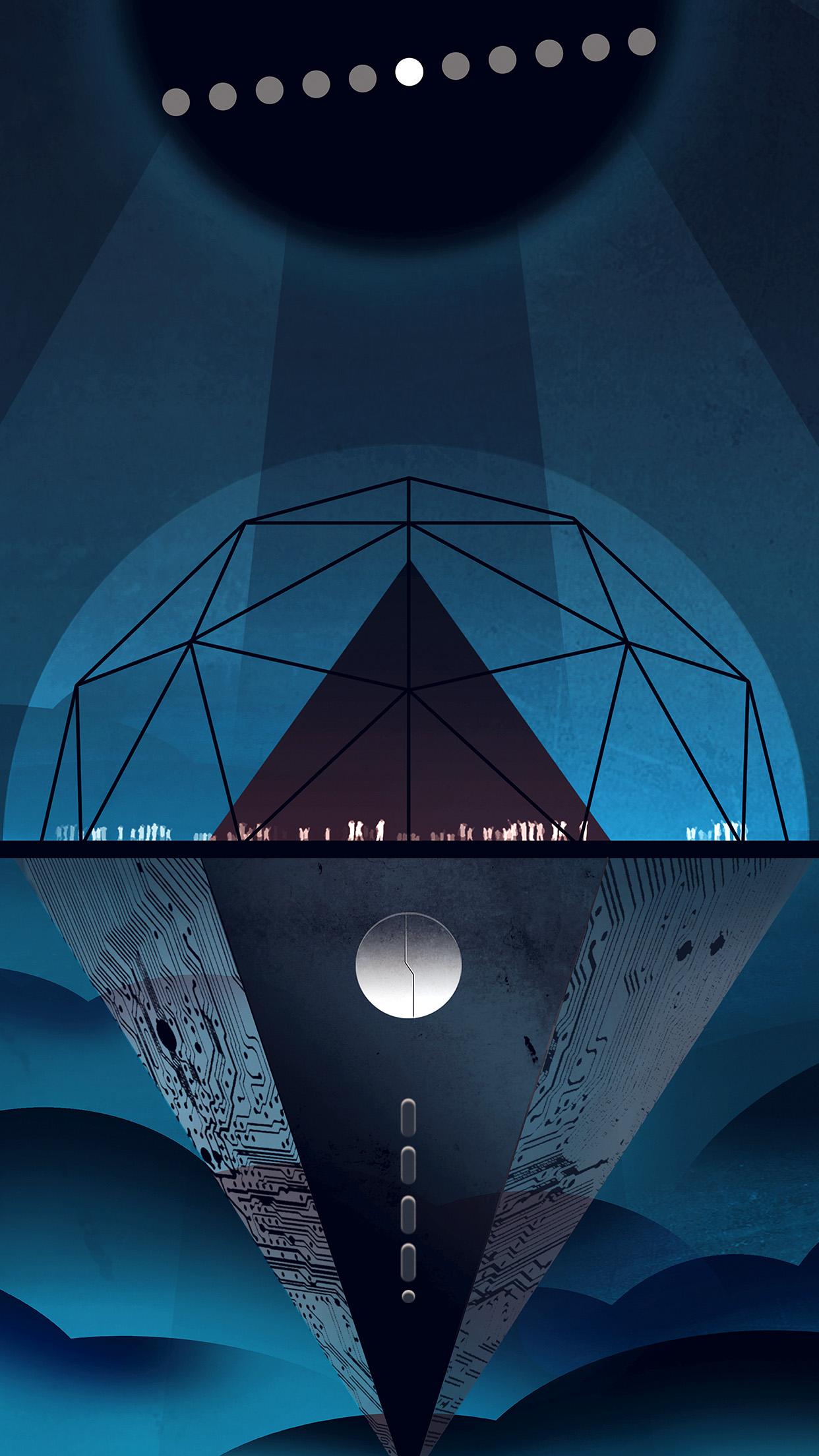Ap42 Venus Dark Blue Art Illustration Nasa Space Wallpaper
