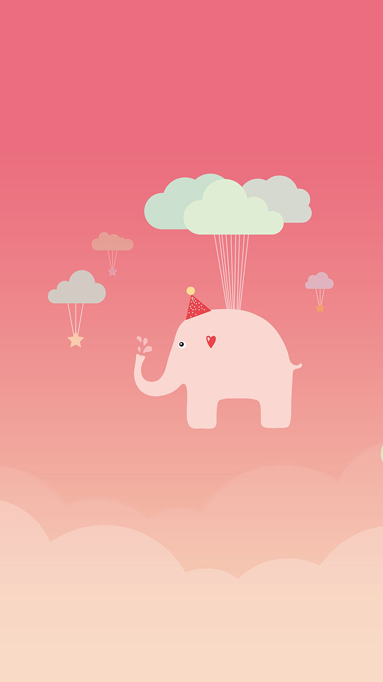 iPhone6papers.co-Apple-iPhone-6-iphone6-plus-wallpaper-ap44-cute-elephant-illustration-art-pink-fly