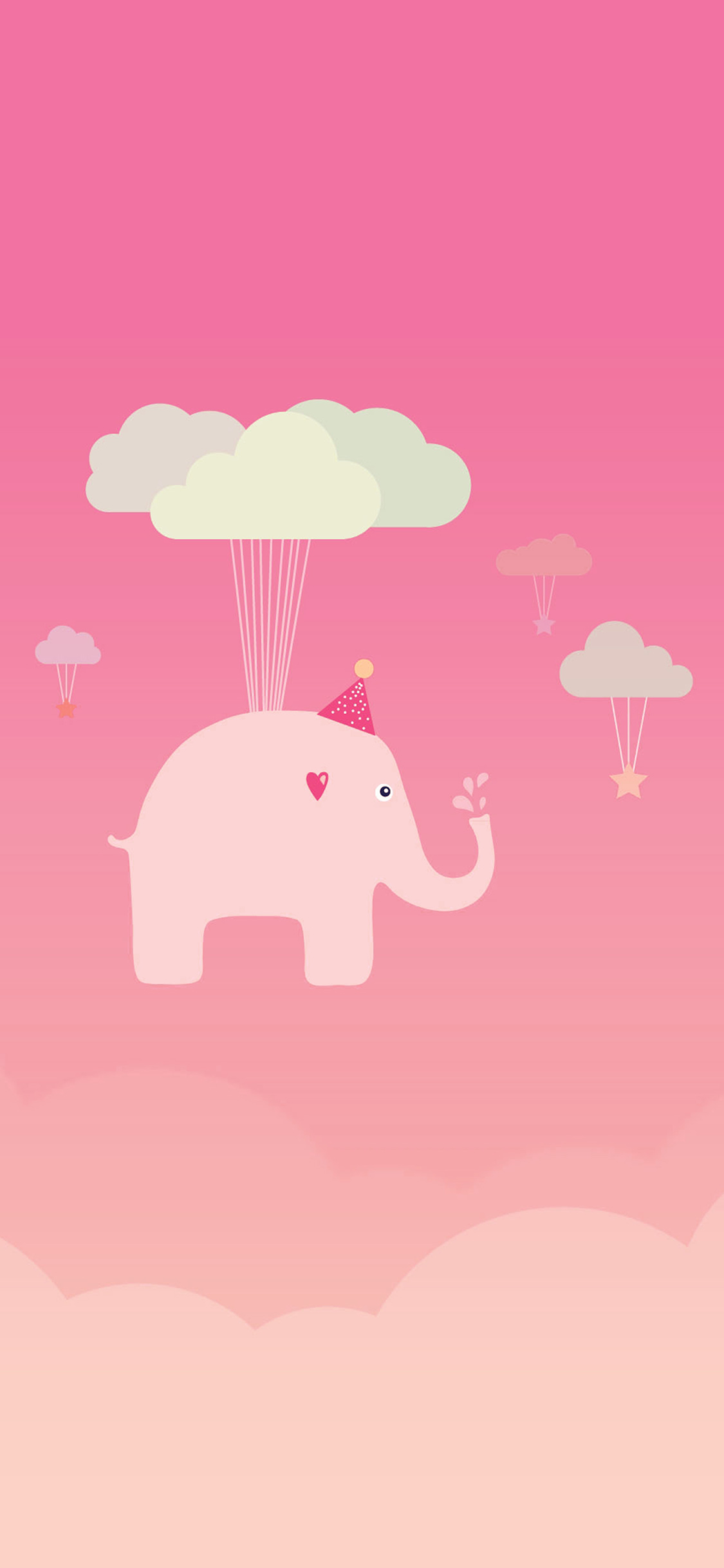 iPhoneXpapers.com-Apple-iPhone-wallpaper-ap45-cute-elephant-illustration-art-orange-fly