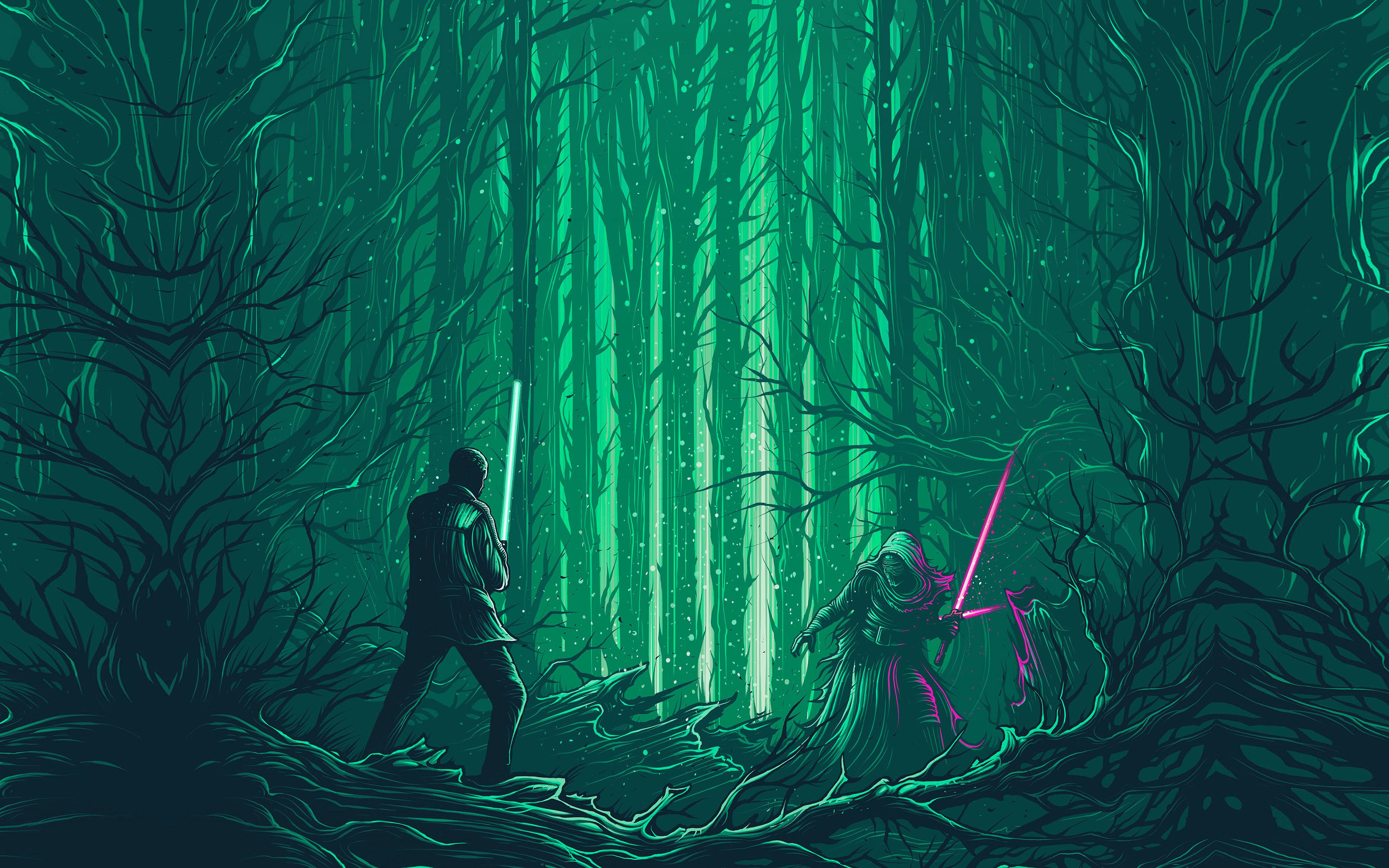 Ap47 Starwars Illustration Green Art Film Wallpaper