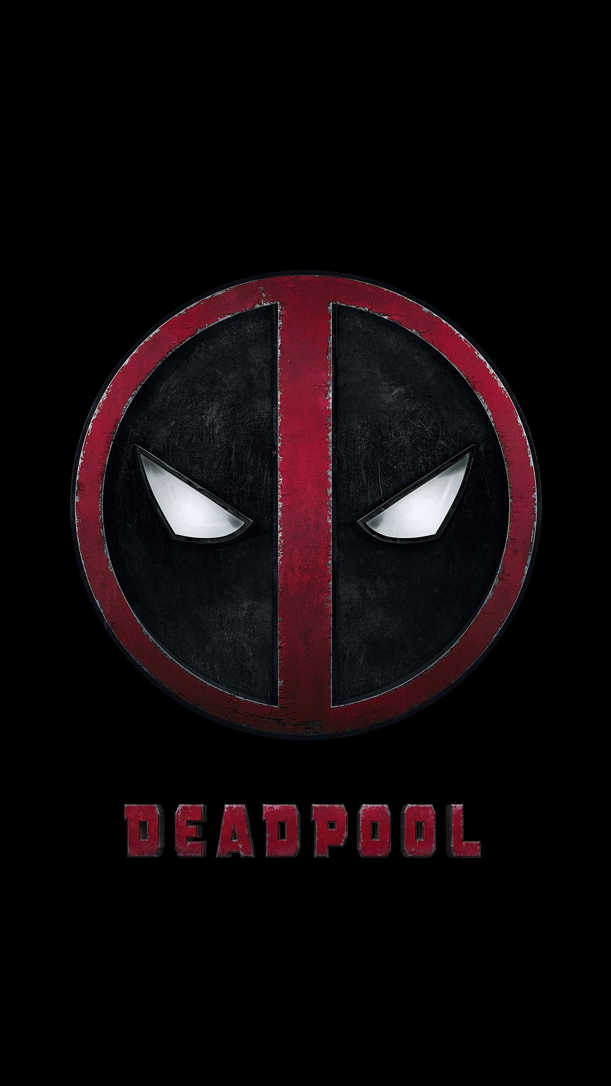 Iphone6papersco Iphone 6 Wallpaper Ap49 Deadpool Logo Dark Art Hero