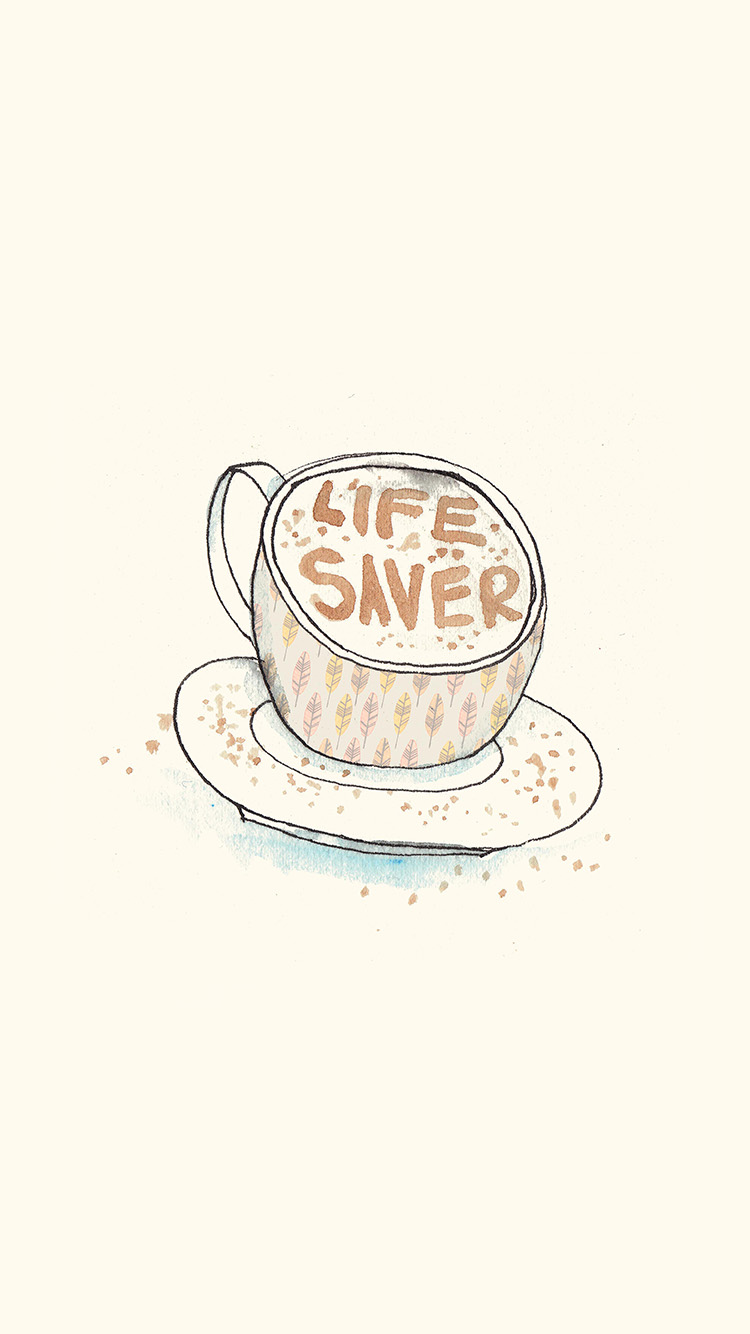 Papers.co-iPhone5-iphone6-plus-wallpaper-ap56-life-saver-coffee-illustration-cute