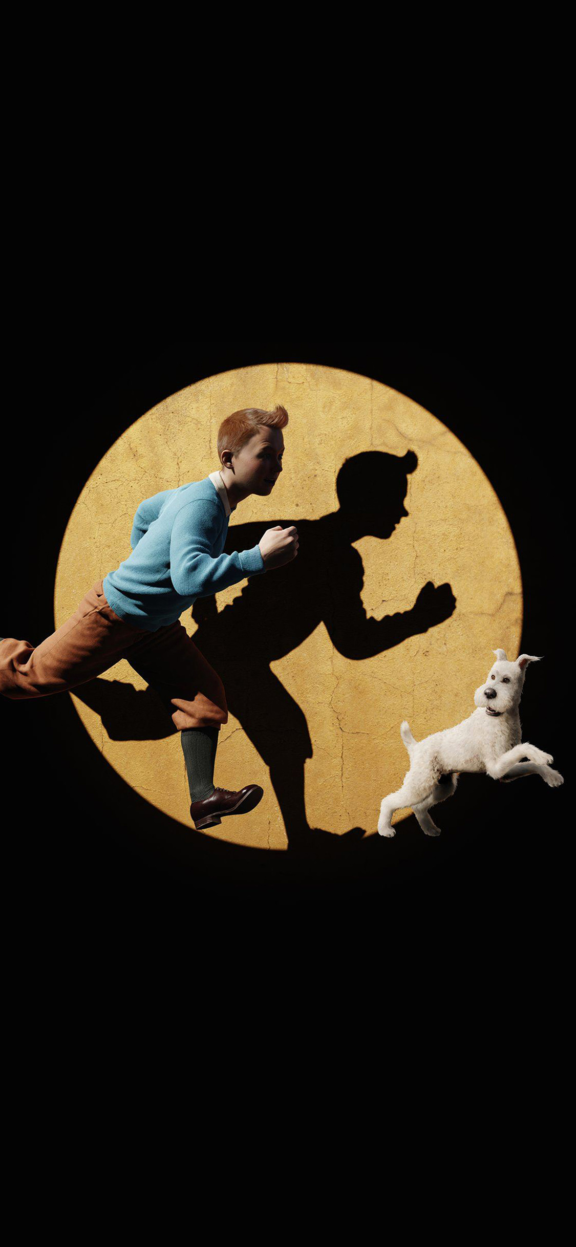 papers.co ap70 tintin 3d art dark illustration 41 iphone wallpaper