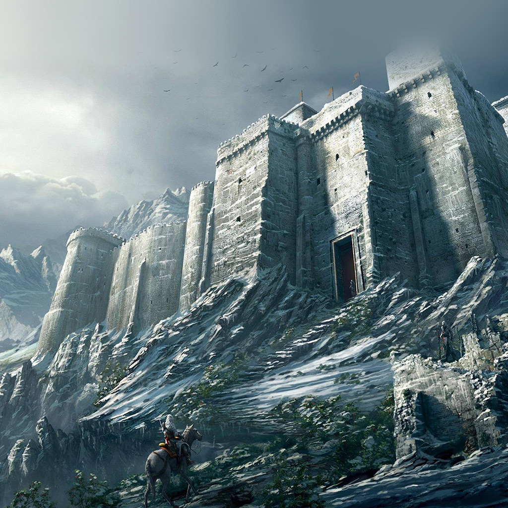 android-wallpaper-ap86-game-illustration-castle-snow-winter-wallpaper