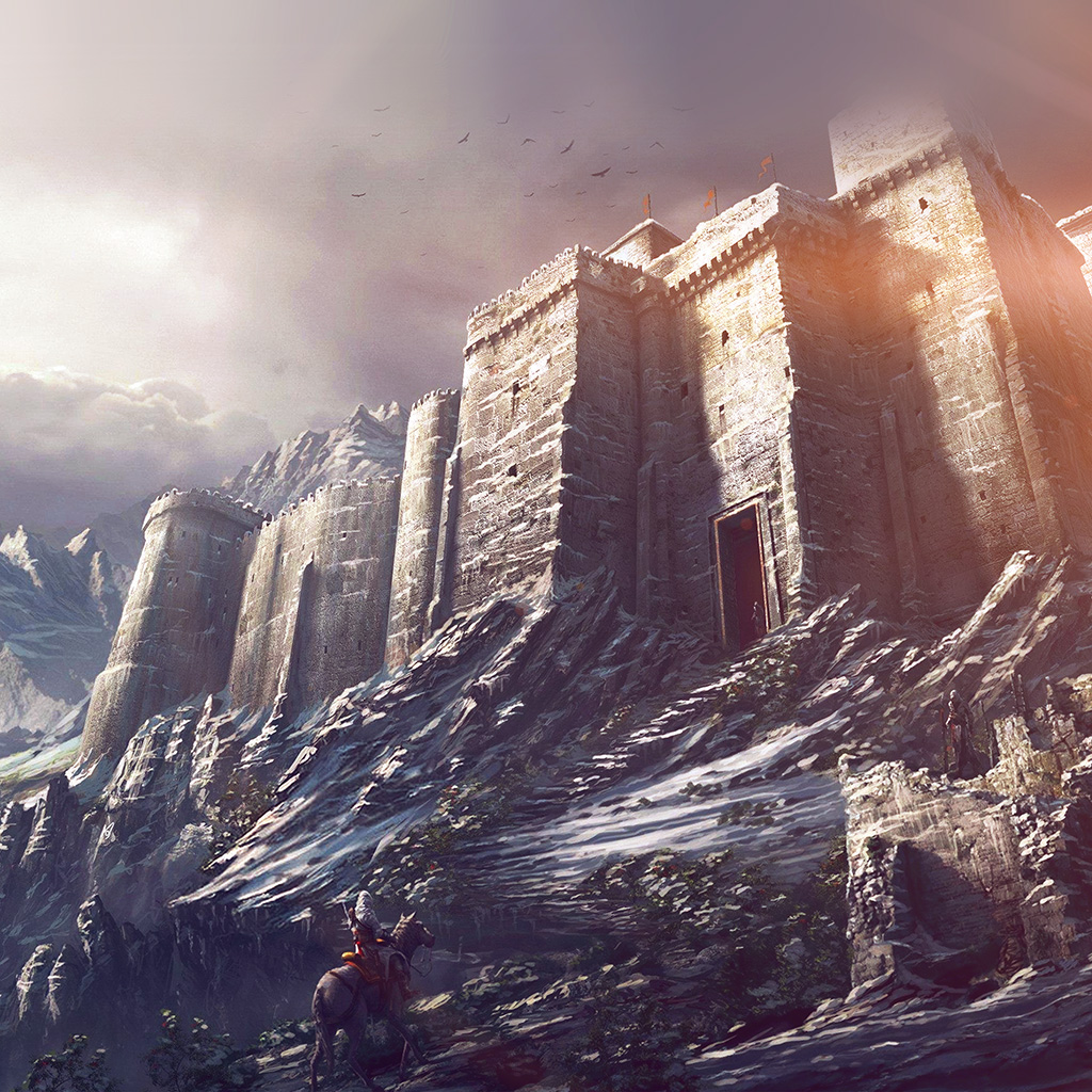 wallpaper-ap87-game-illustration-castle-snow-winter-flare-wallpaper
