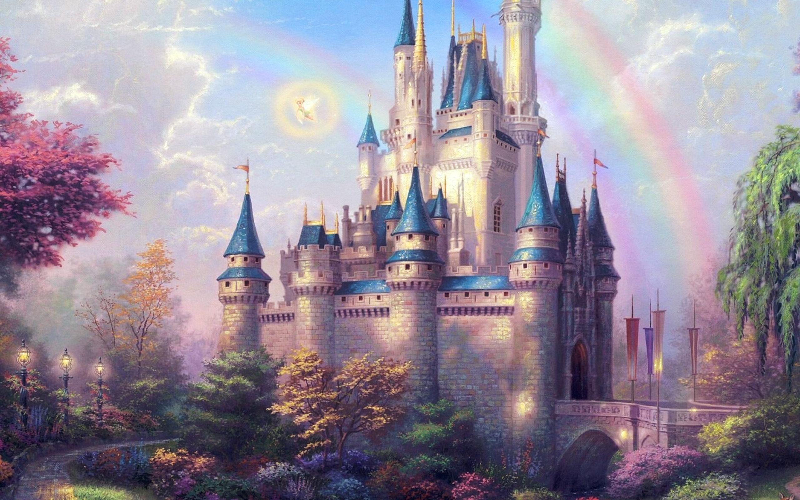 Ap98 Fantasy Castle Illustration Cute Disney