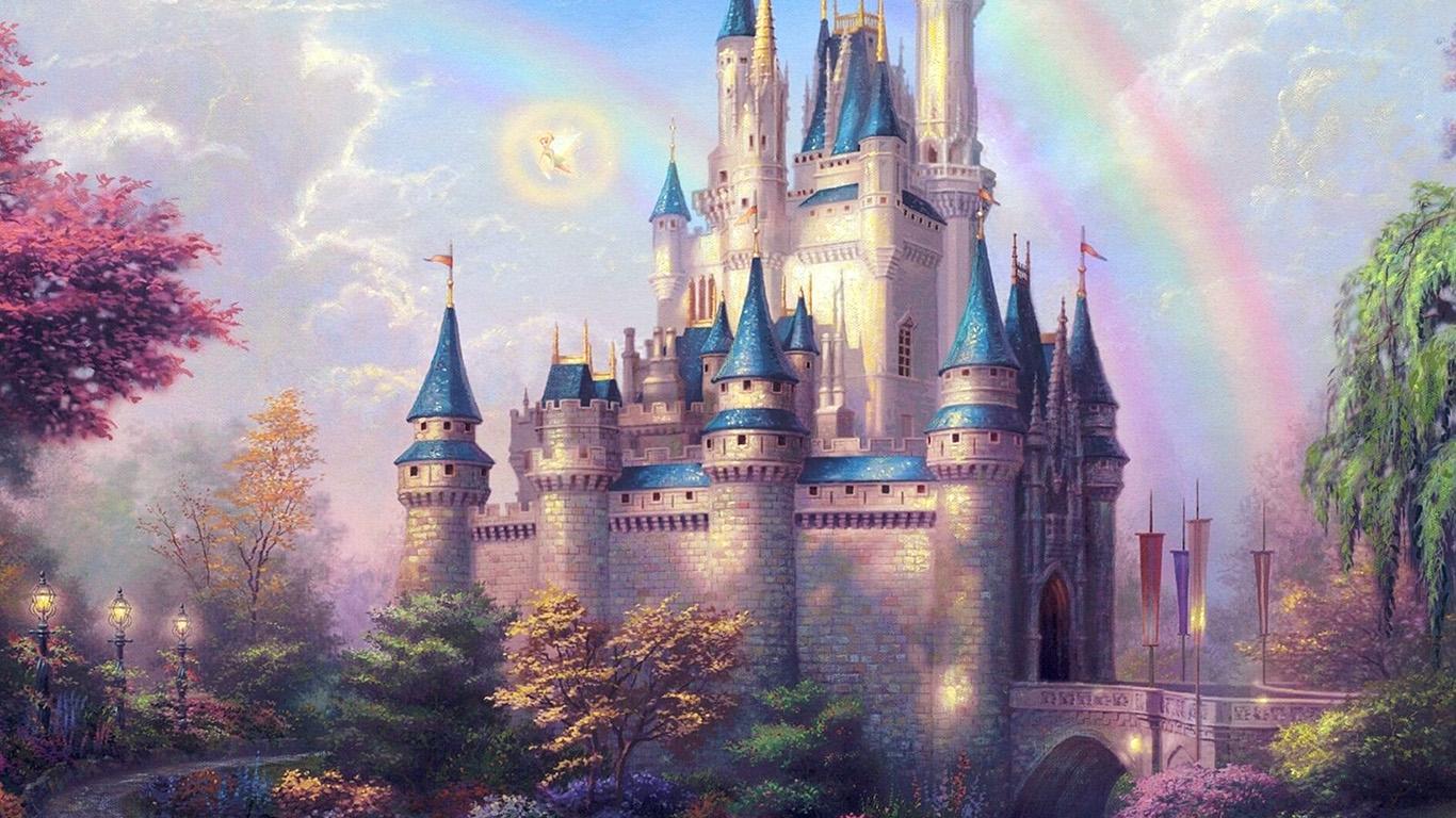 papers.co ap98 fantasy castle illustration cute disney 29 wallpaper