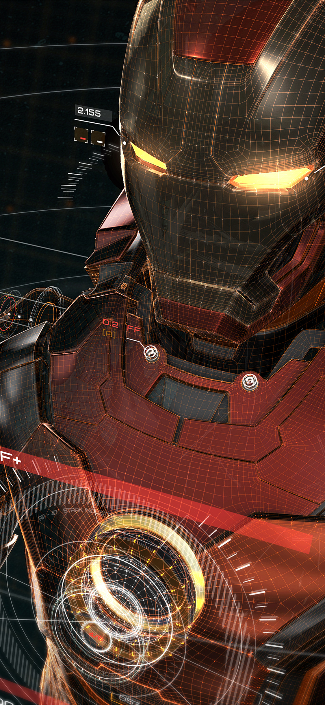 papers.co aq05 ironman 3d red game avengers art illustration hero 41 iphone wallpaper