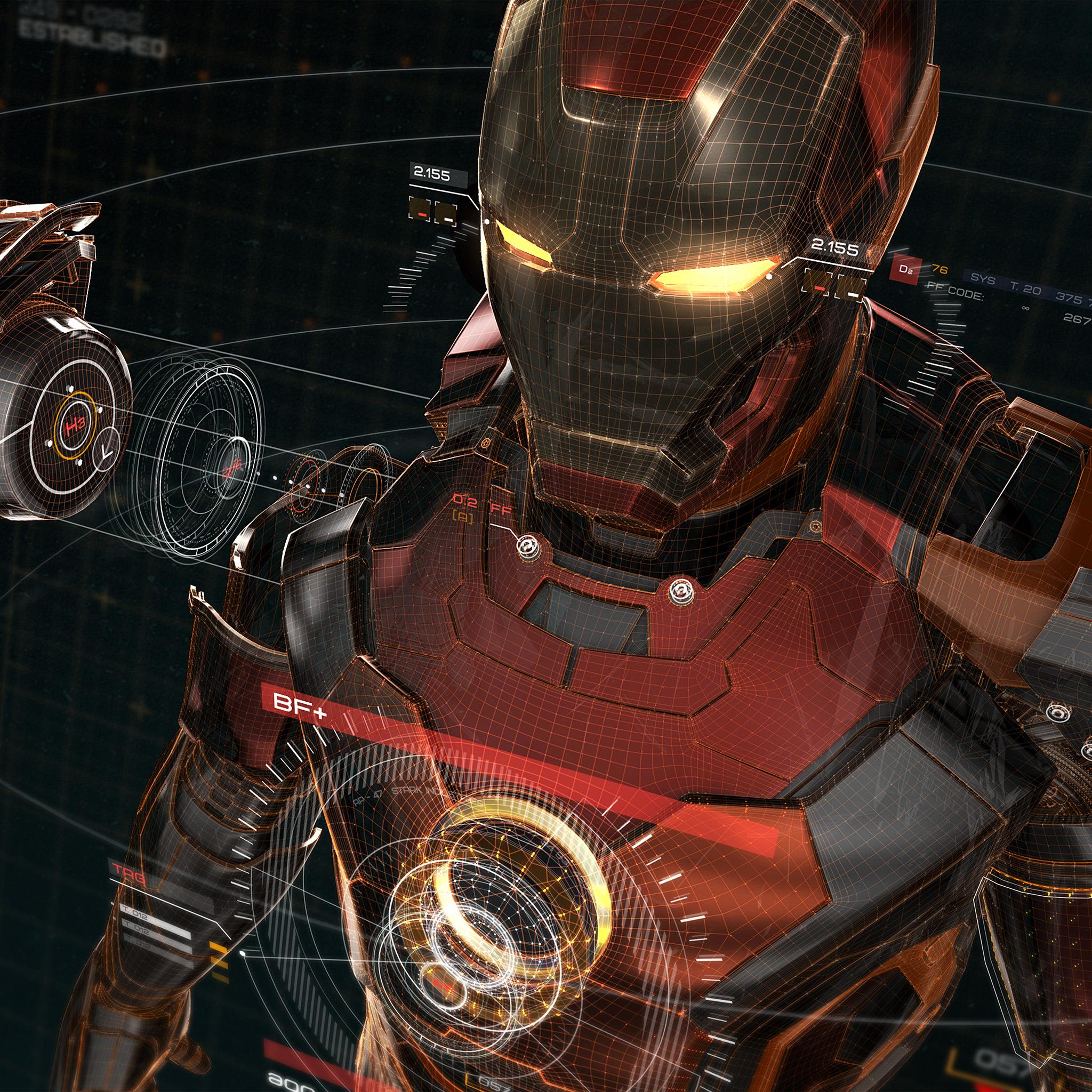 Apple Wallpaper: Aq05-ironman-3d-red-game-avengers-art-illustration-hero