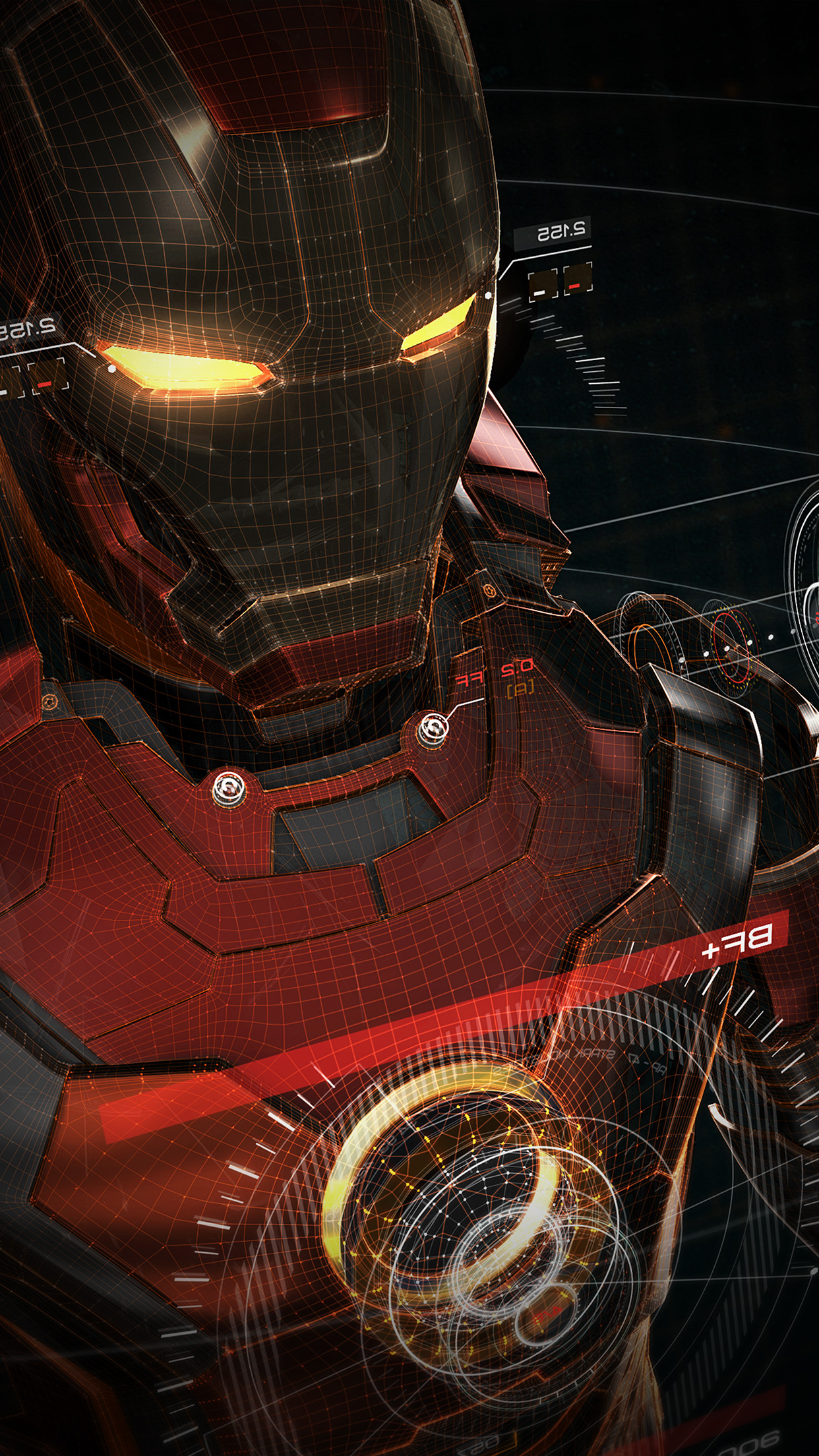 PAPERS.co | iPhone wallpaper | aq06-ironman-3d-red-game ...