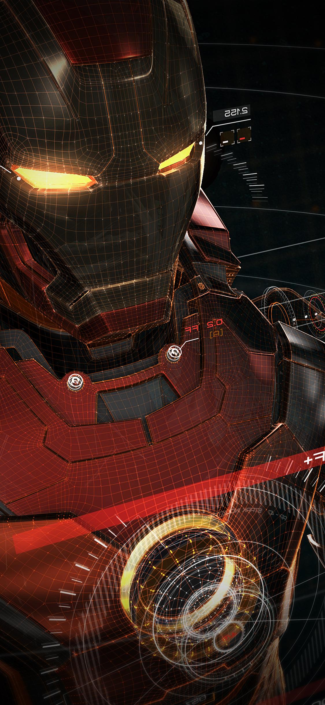 iPhoneXpapers.com-Apple-iPhone-wallpaper-aq06-ironman-3d-red-game-avengers-art-illustration-hero-vignette