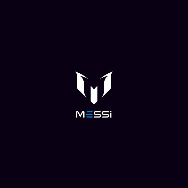 aq07 messi logo art minimal dark