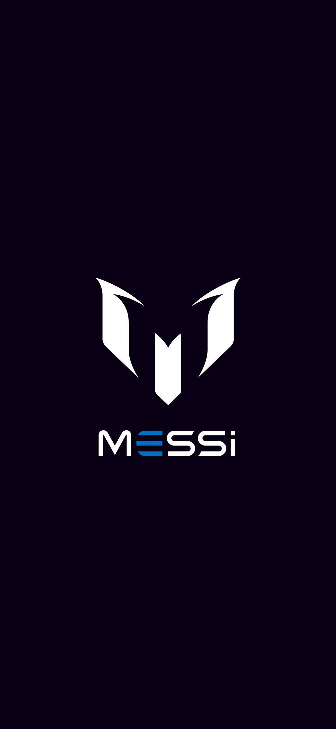 Iphonexpapers Com Iphone X Wallpaper Aq07 Messi Logo Art Minimal Dark
