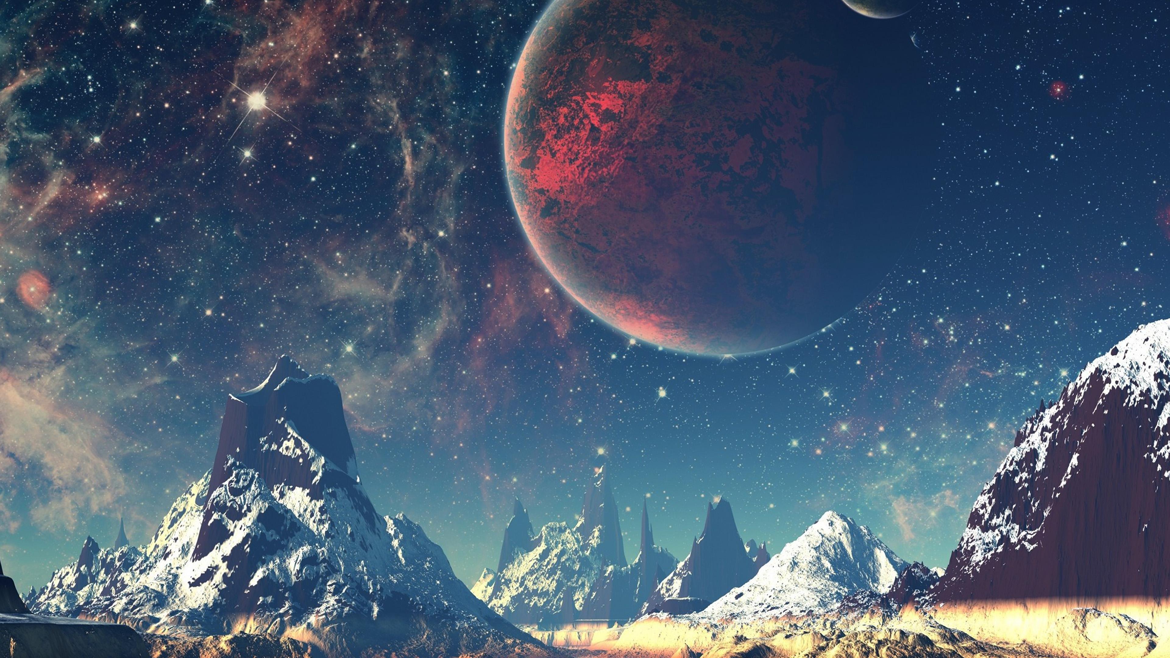 aq10-dream-space-world-mountain-sky-star-illustration ...