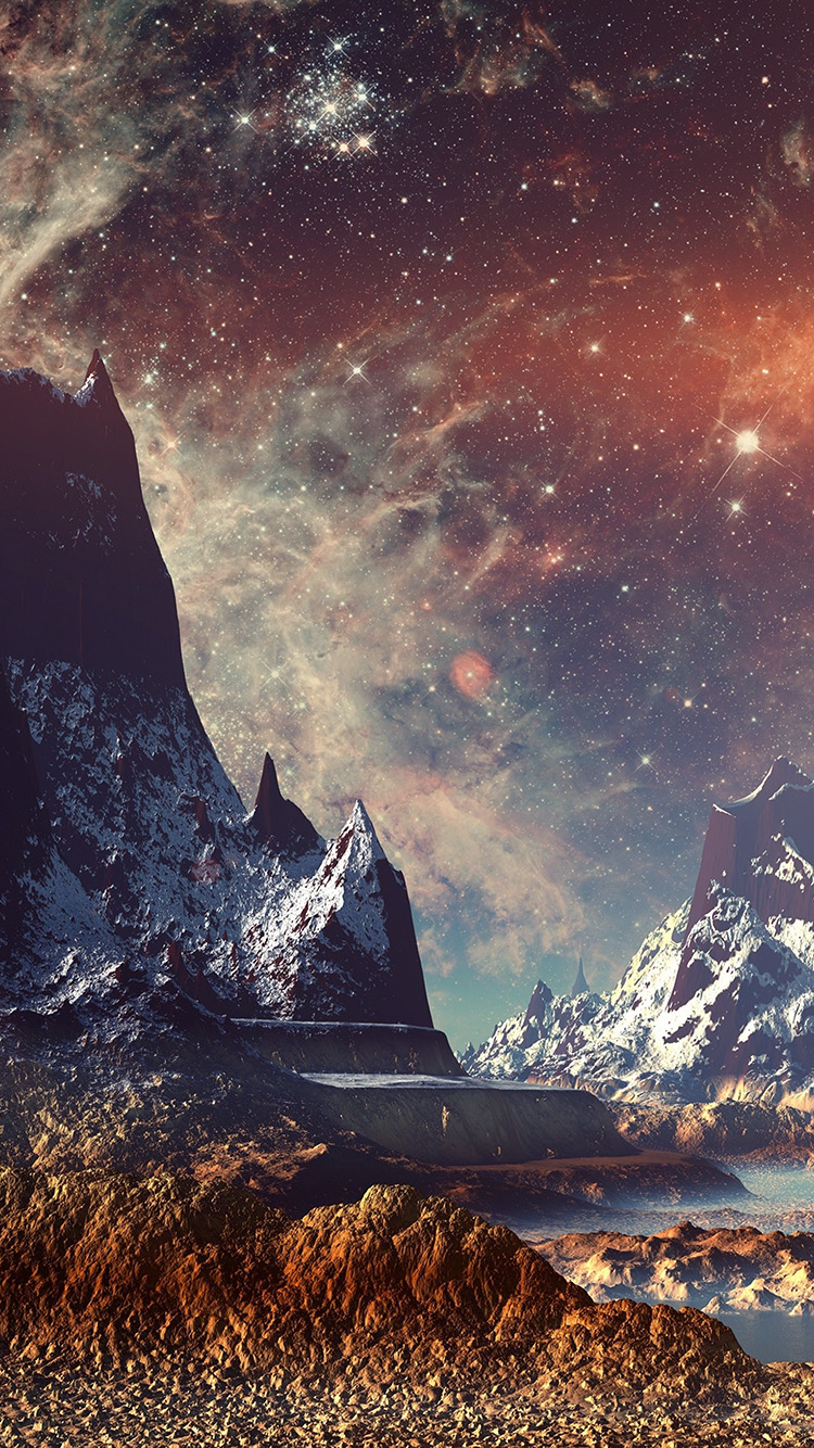 Papers.co-iPhone5-iphone6-plus-wallpaper-aq11-dream-space-world-mountain-sky-star-illustration-flare
