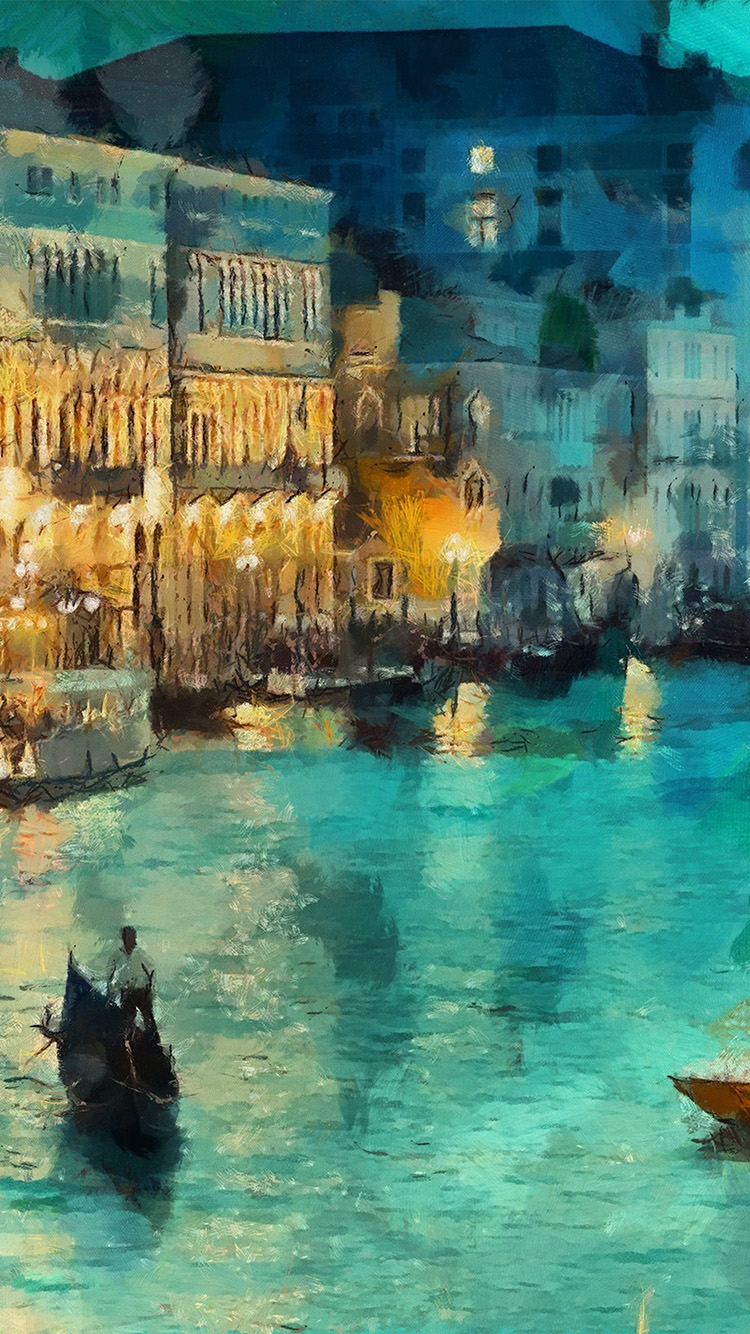 iPhone6papers.co-Apple-iPhone-6-iphone6-plus-wallpaper-aq31-art-classic-painting-water-lake-night