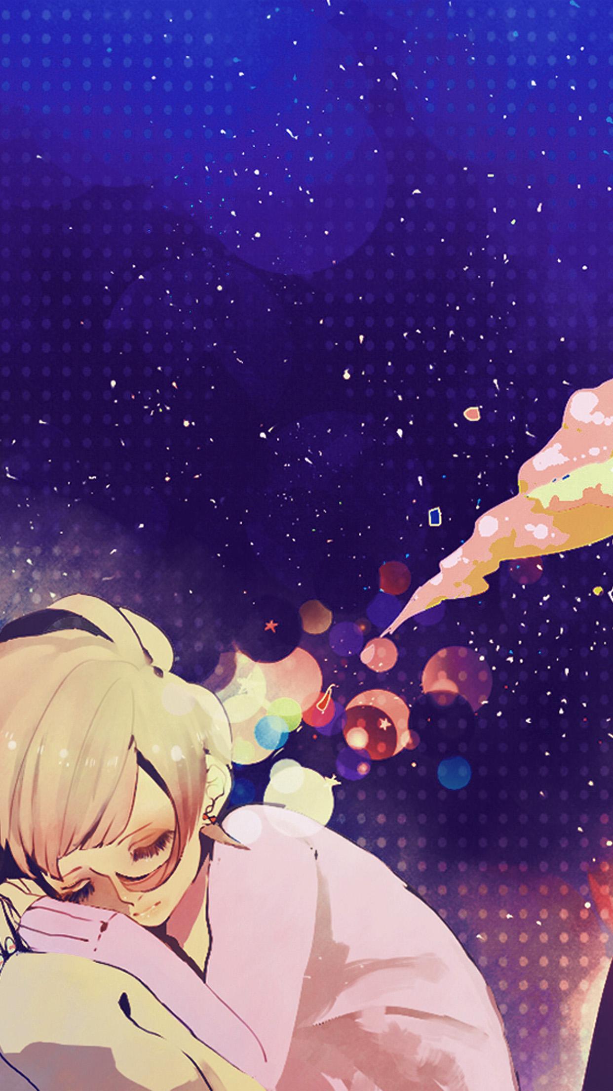 Aq37 Sleeping Girl Anime Art Illustration Blue Wallpaper