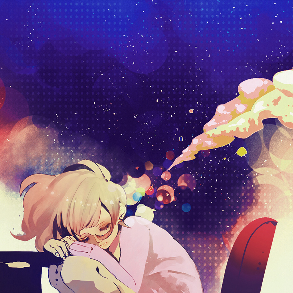 android-wallpaper-aq37-sleeping-girl-anime-art-illustration-blue-wallpaper