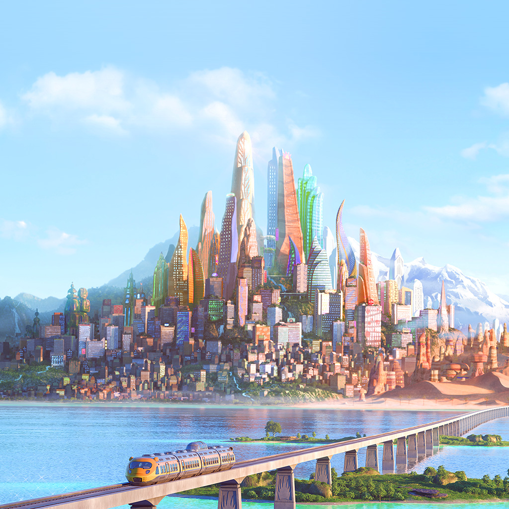 wallpaper-aq42-art-zootopia-disney-city-wallpaper