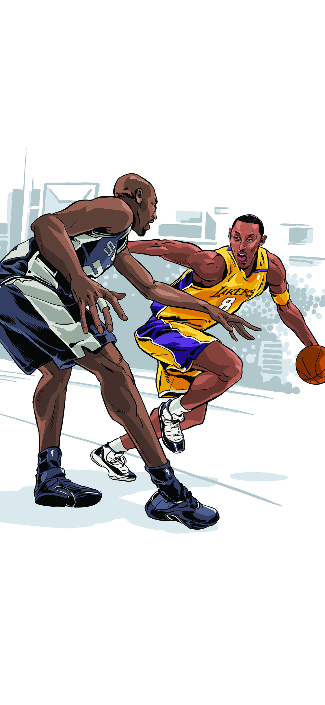 Aq45 Kobe Bryant Ankle Breaker Sports Nba Art Wallpaper