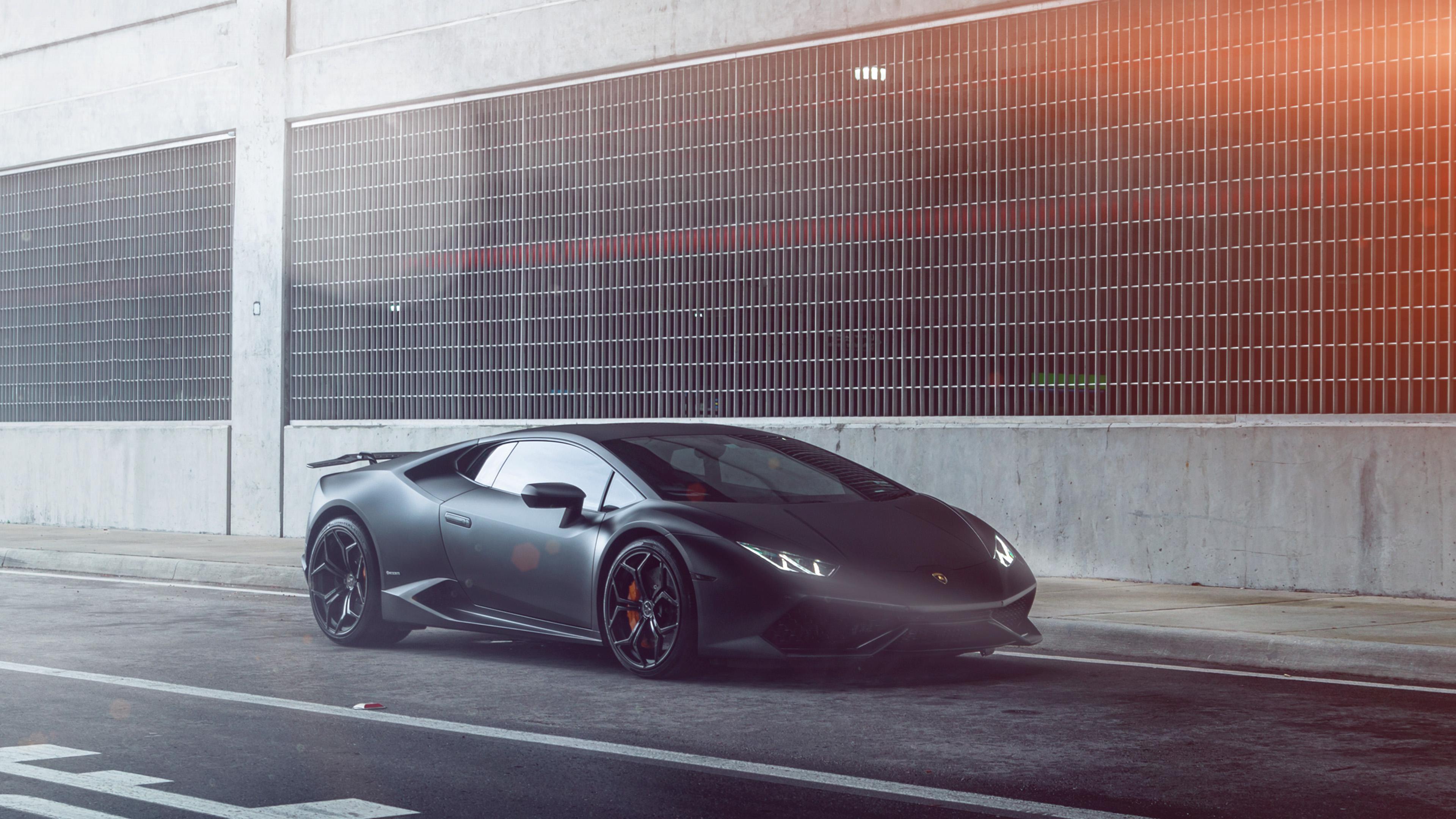 Pro Street Cars >> aq50-lamborghini-huracan-vellano-matte-black-car-flare ...