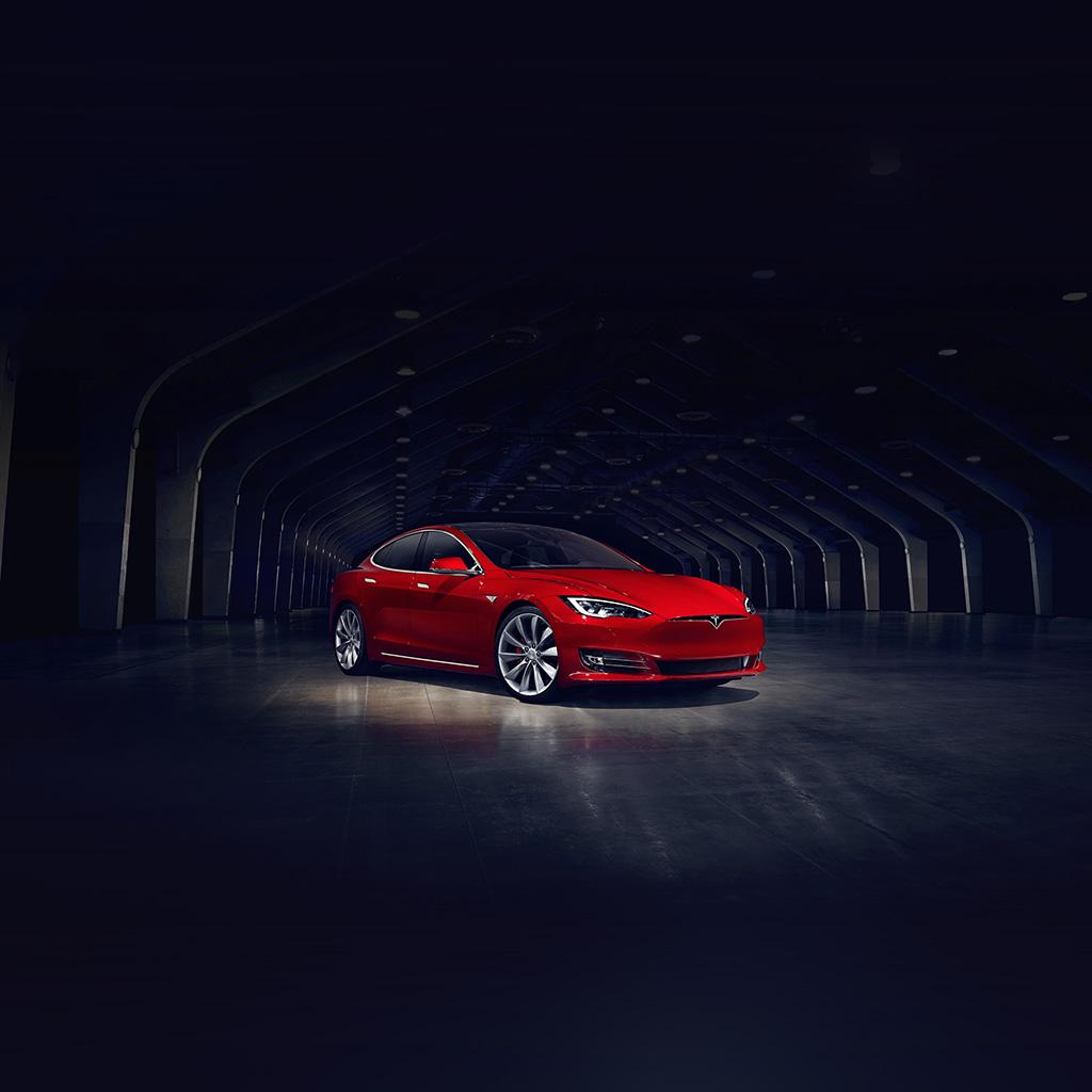 android-wallpaper-aq53-tesla-model-red-car-wallpaper