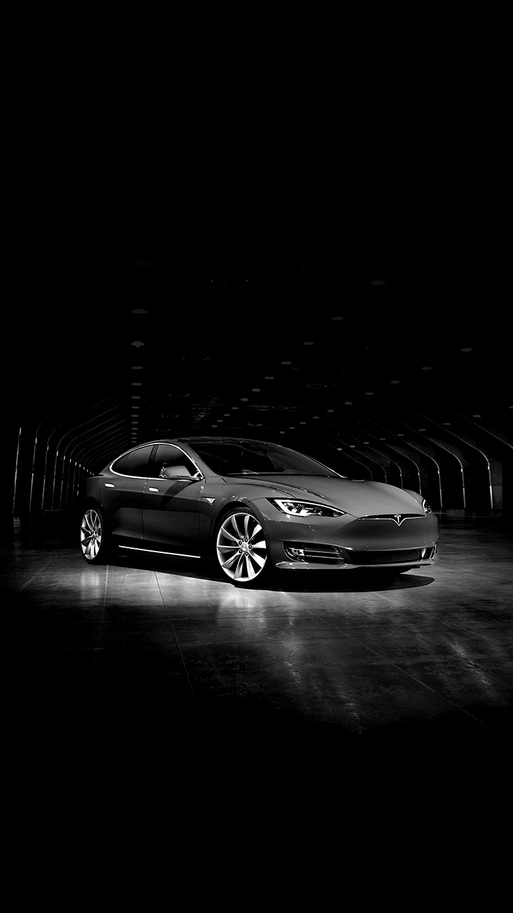 iPhone7papers.com-Apple-iPhone7-iphone7plus-wallpaper-aq54-tesla-model-dark-bw-car