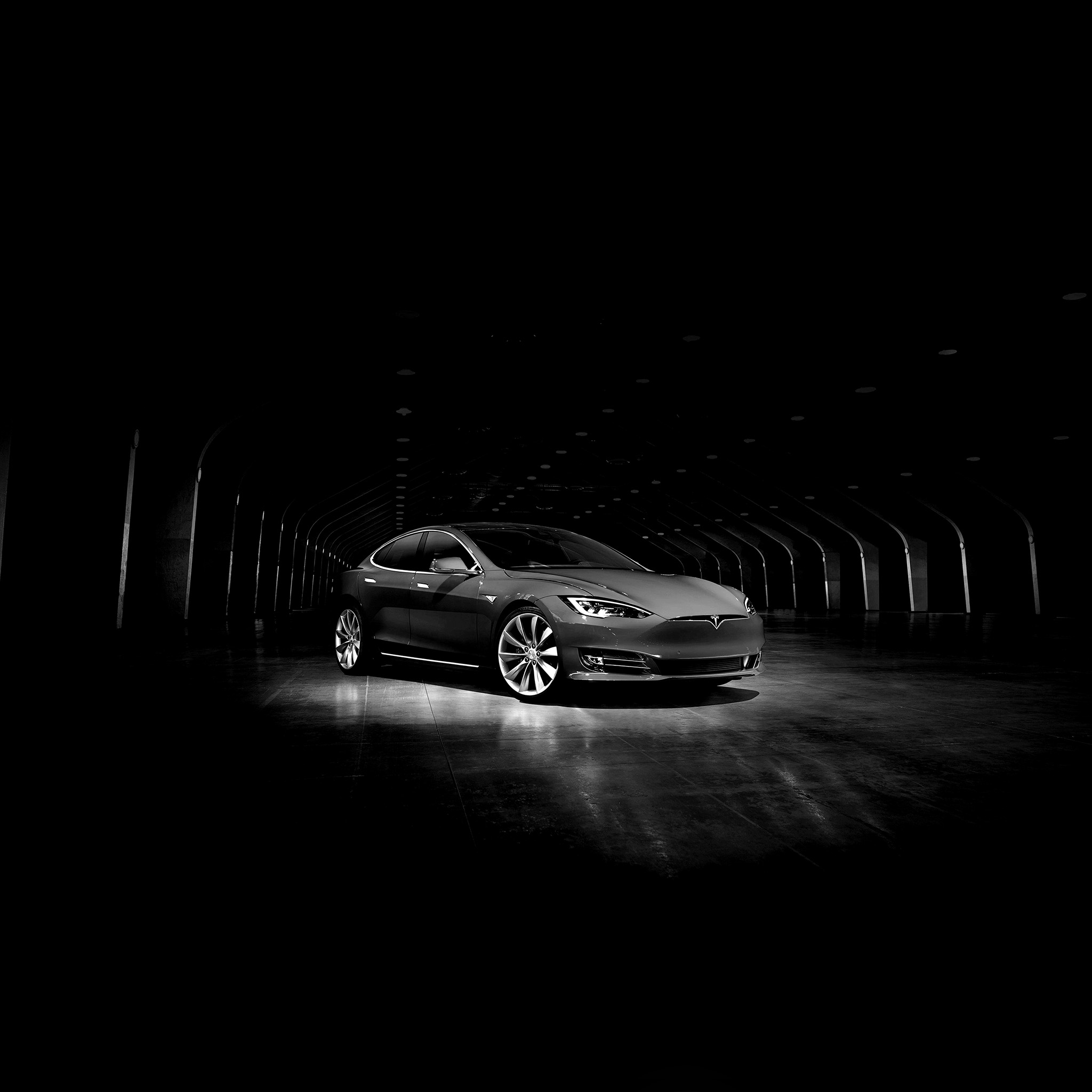 Wallpaper Tesla Model S Novitec Hd 4k Automotive: Aq54-tesla-model-dark-bw-car-wallpaper