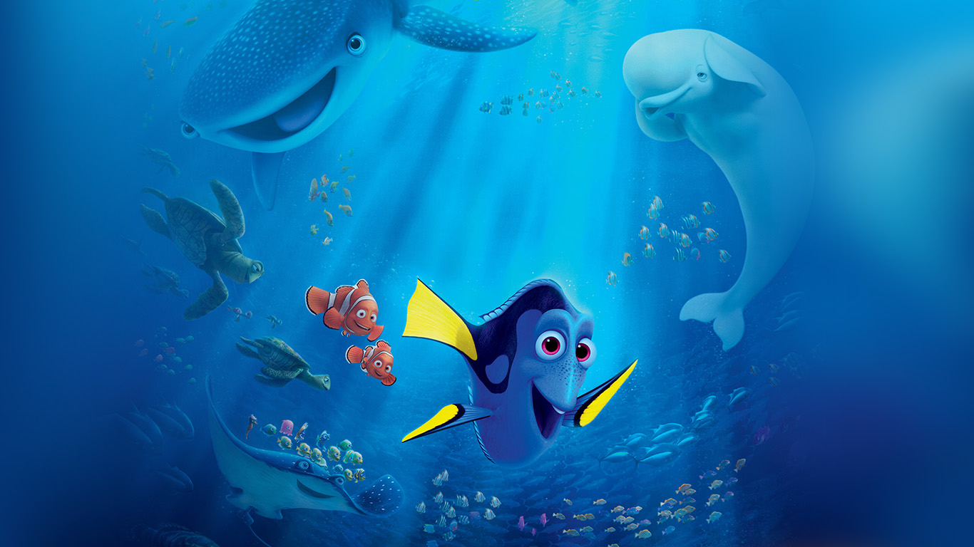 Papers Co Desktop Wallpaper Aq56 Finding Dory Sea Art Disney