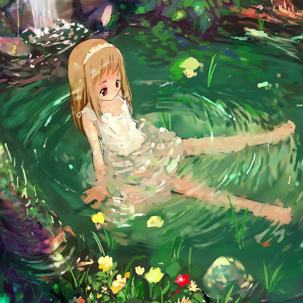 wallpaper-aq59-girl-cute-anime-water-wallpaper