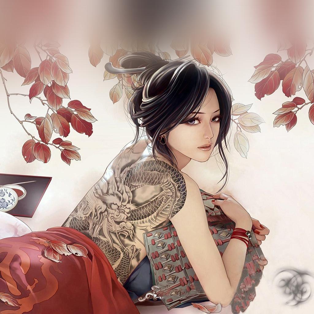 wallpaper-aq60-anime-tatoo-girl-illustration-wallpaper