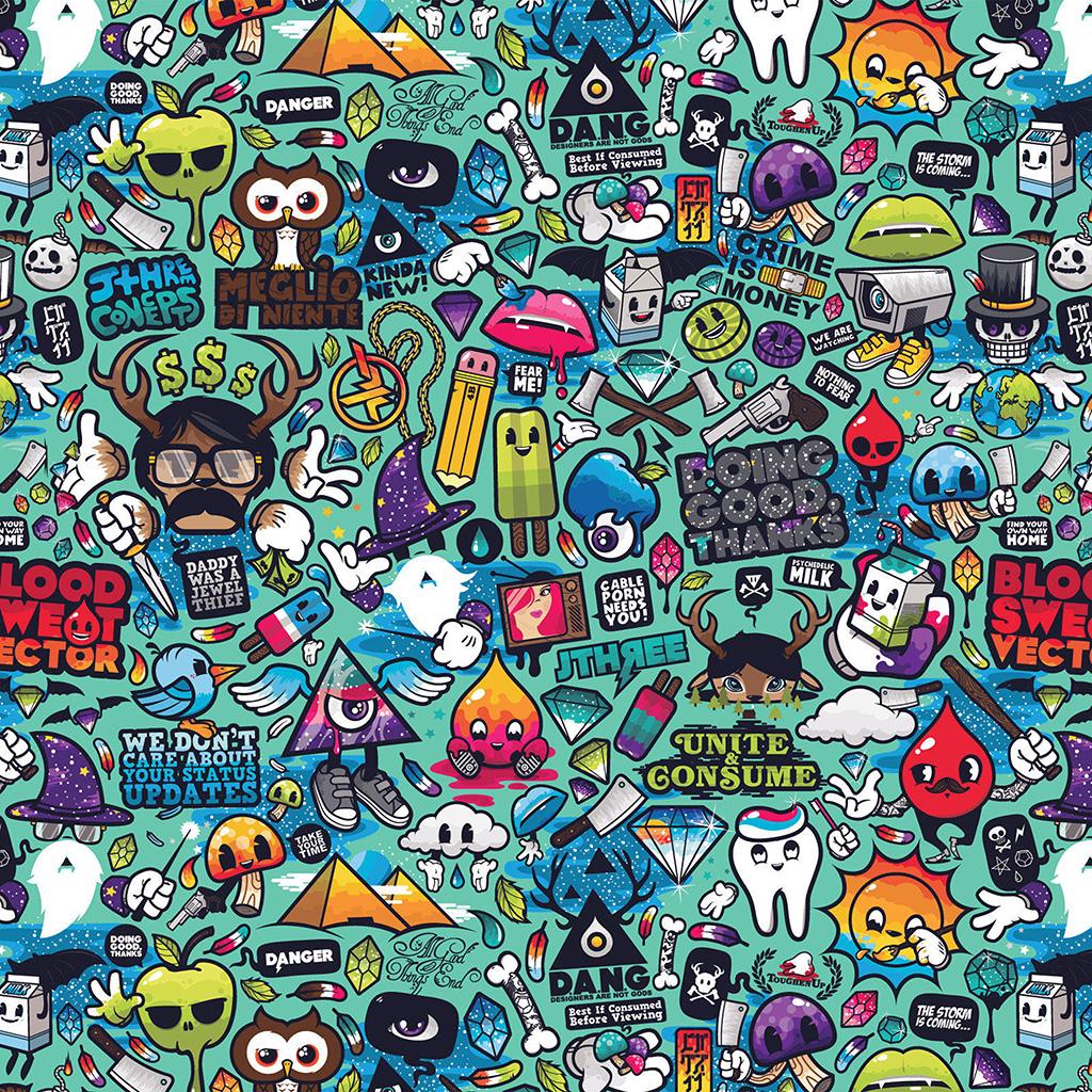 wallpaper-aq61-art-work-pattern-illustration-graffiti-wallpaper