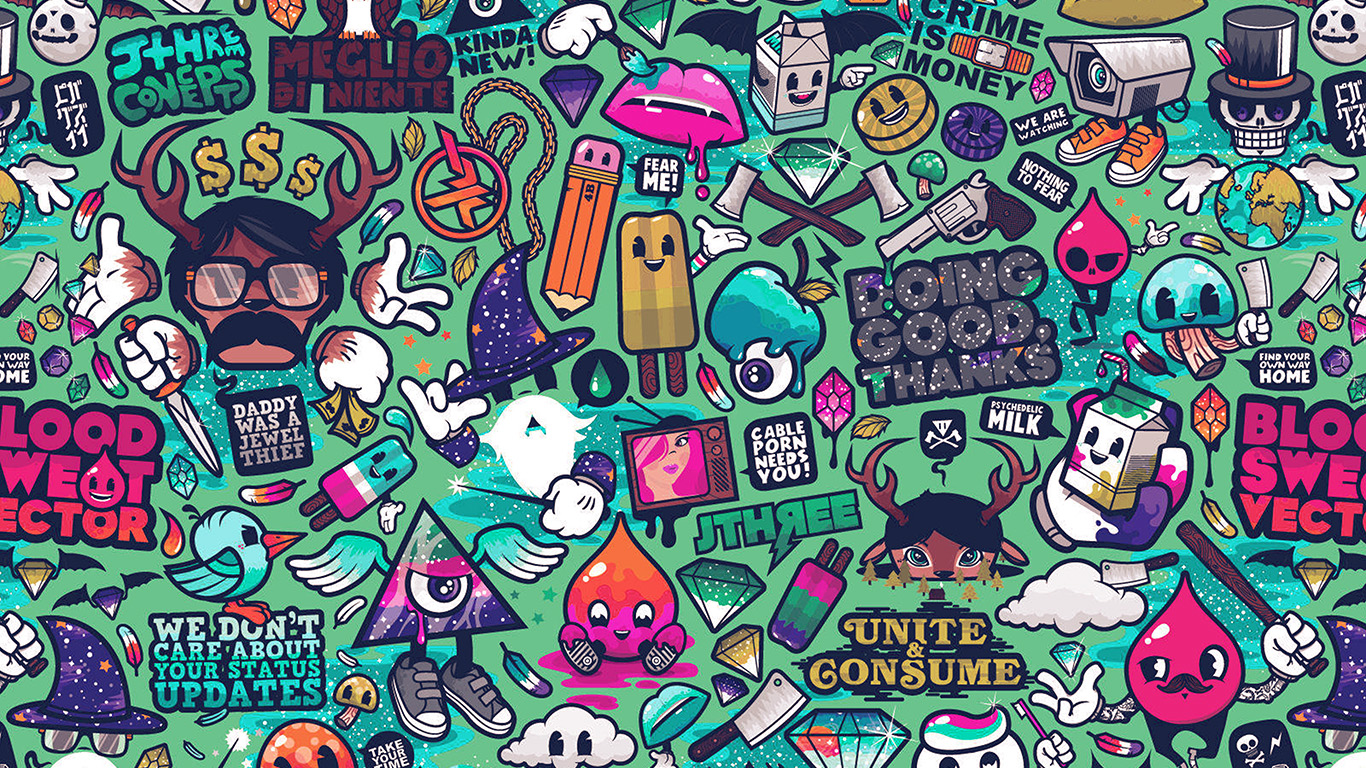 desktop-wallpaper-laptop-mac-macbook-air-aq62-art-work-pattern-illustration-graffiti-green-wallpaper