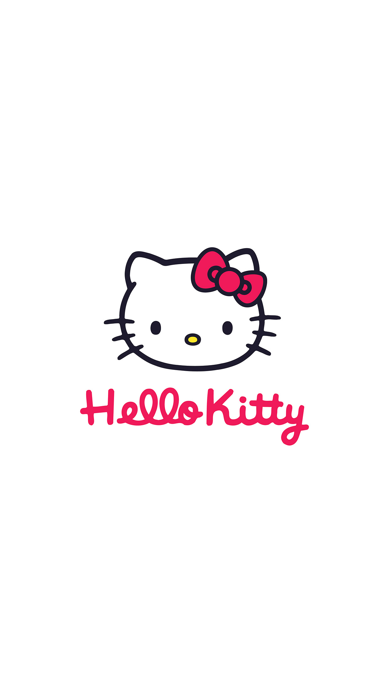 Iphonepapers Com Iphone 8 Wallpaper Aq67 Hello Kitty Logo Art